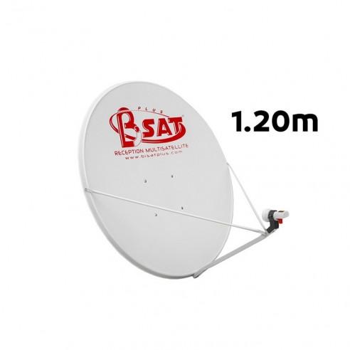 Assiette Parabole Satellite Pleine 120Cm 3 Bras
