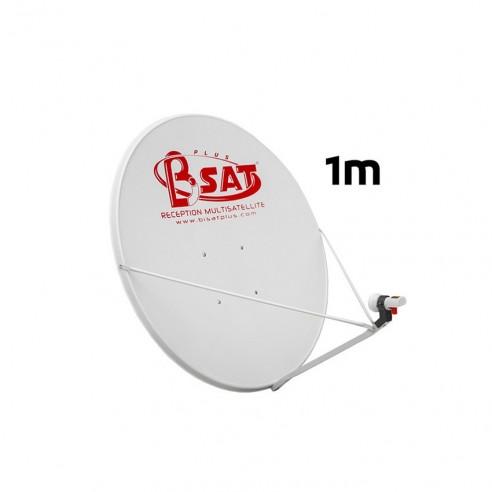 Assiette Parabole Satellite Pleine 100Cm 3 Bras